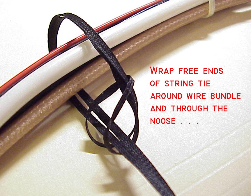 aeroelectric connection wire bundle tying techniques rh aeroelectric com Wiring Harness Diagram Engine Wiring Harness
