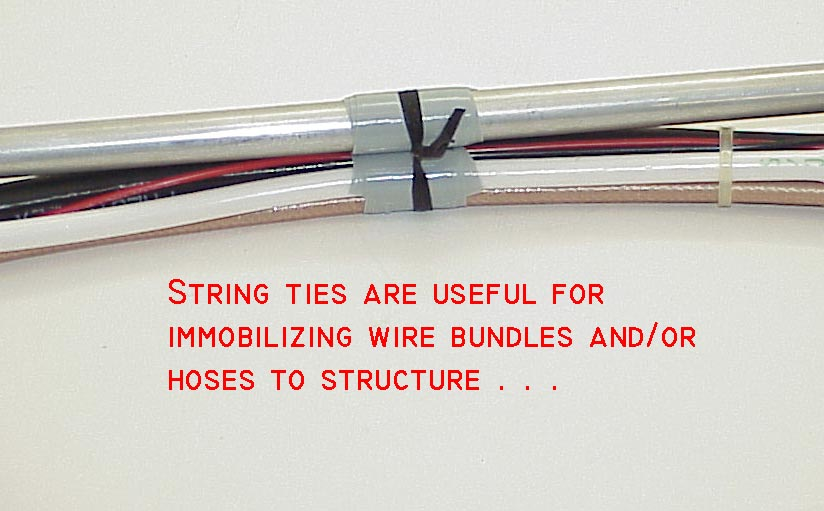 Electrical Wire Bundle : Aeroelectric connection wire bundle tying techniques